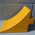 yellow handle chock