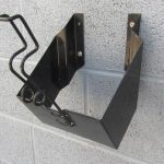 black wheel chock holder