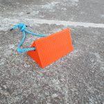 single aircraft orange chock