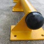 yellow capped kerb